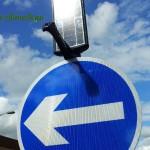 В Беларуси появились знаки, работающие от солнечных батарей